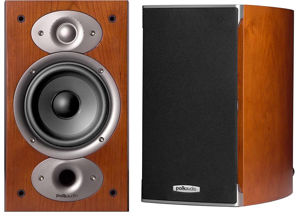 "Open-Box Excellent: Polk Audio Pair 5-1//4/"" Bookshelf Speakers Black"