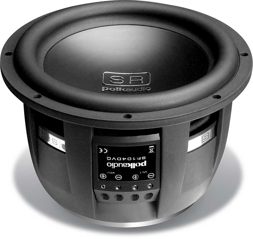 polk audio sr104 dvc 10 quot subwoofer with dual 4 ohm voice coils at crutchfield
