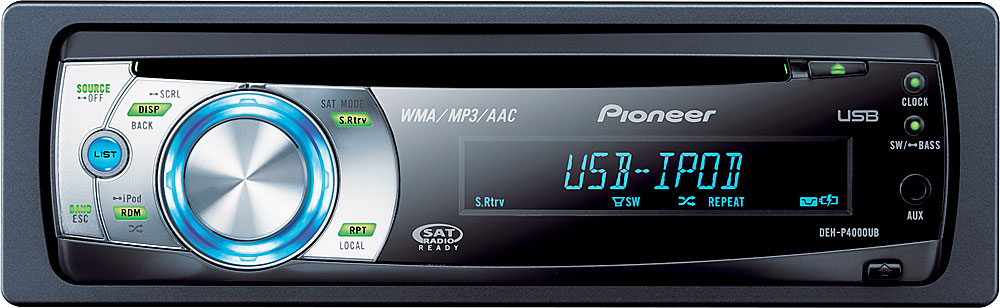 Pioneer DEH-P4000UB CD receiver at Crutchfield.com
