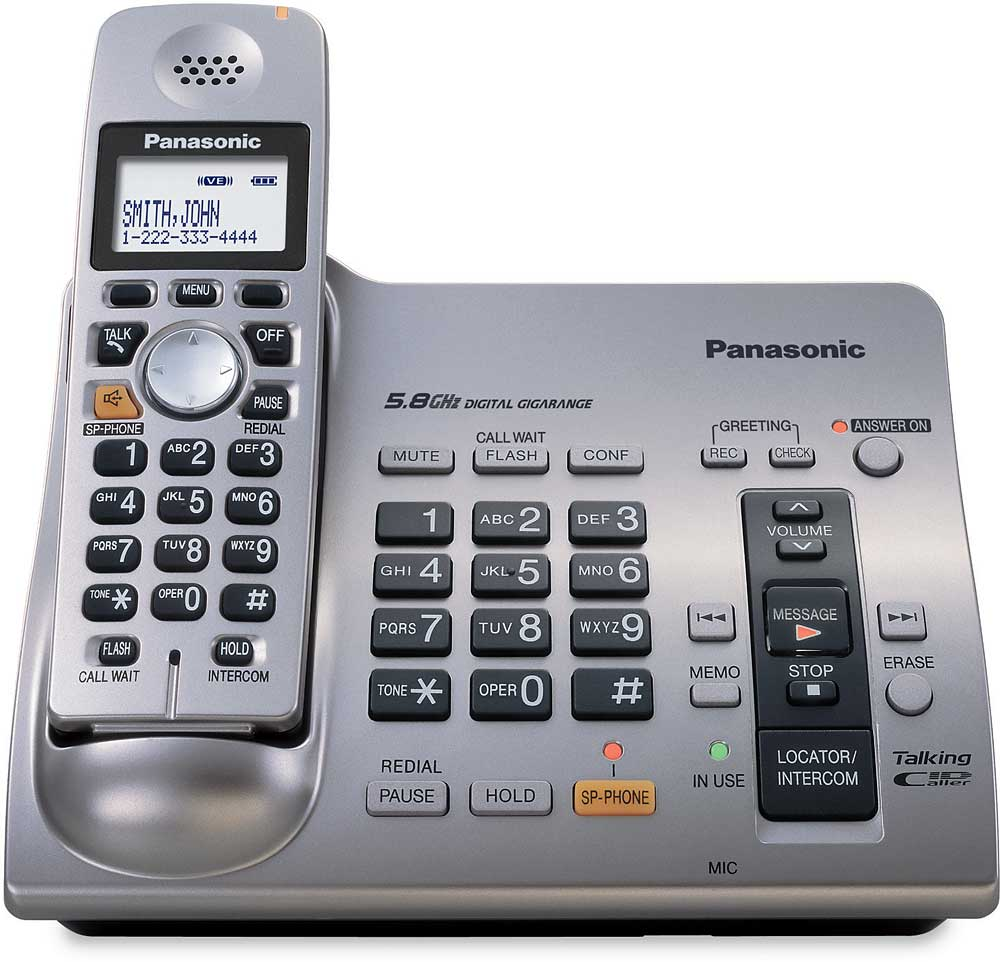 Panasonic Kx Tg6071m 58 Ghz Cordless Phone With Answering Machine