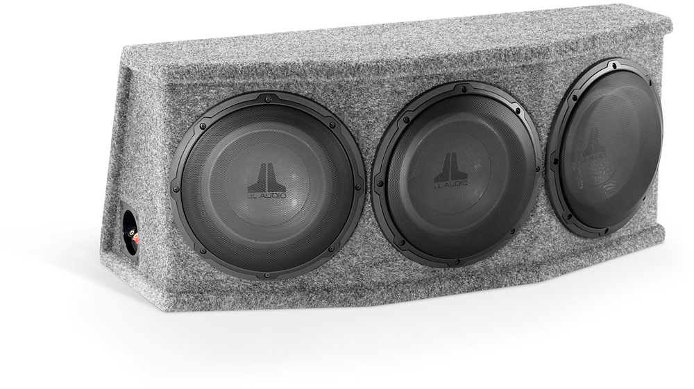 Car Audio Triple 12 Sealed Subwoofer Rear Angle 3 Sub Box Stereo Enclosure