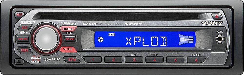sony cdx gt120 cd receiver at crutchfield com rh crutchfield com