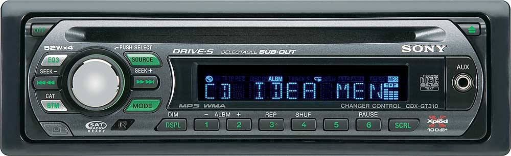 sony cdx gt310 cd receiver with mp3 wma playback at crutchfield com rh crutchfield com