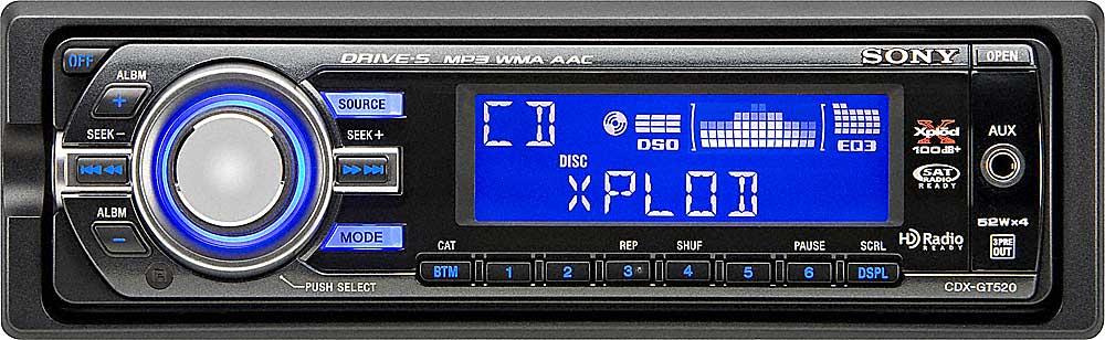 sony cdx gt520 cd receiver at crutchfield com