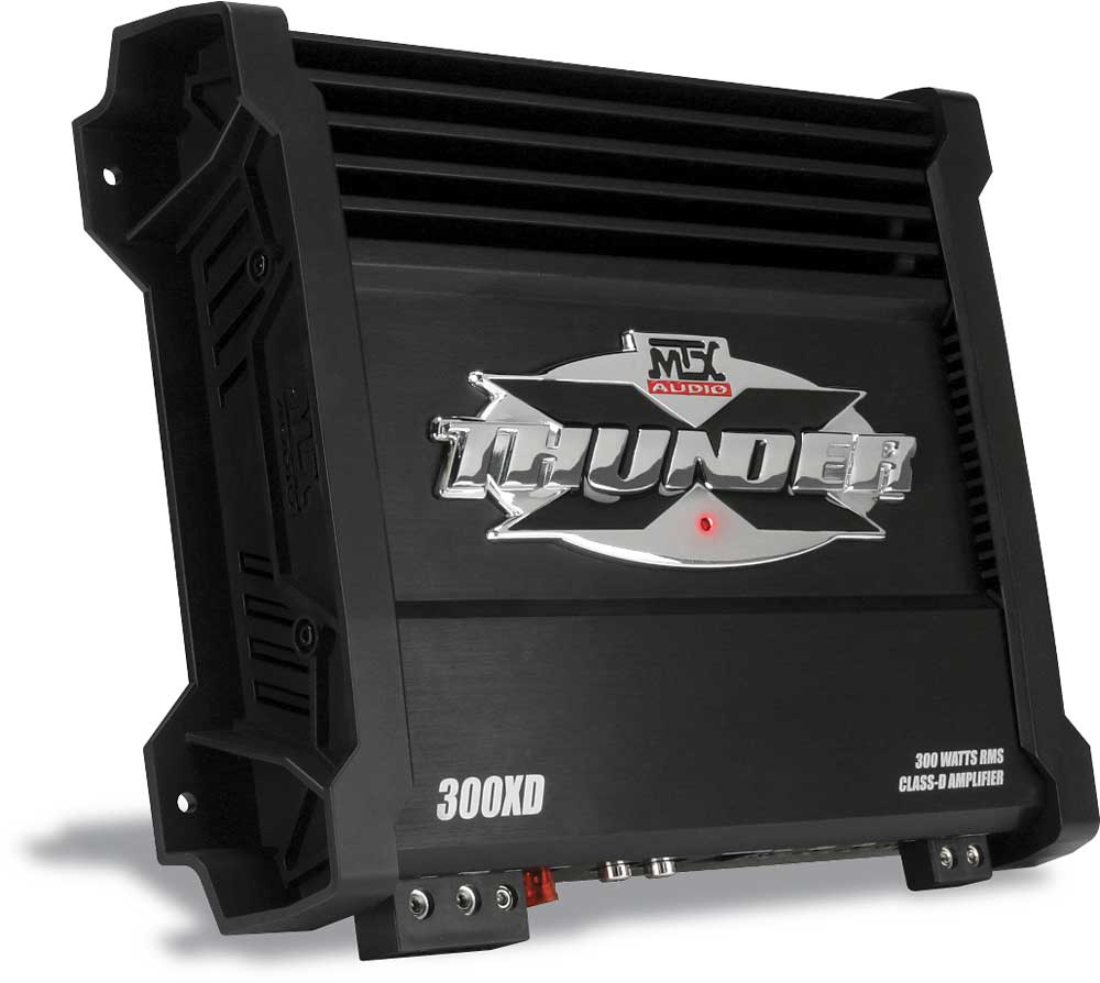MTX X Thunder 300XD Mono subwoofer amplifier 300 watts RMS x 1 at 2 ohms at  Crutchfield.com
