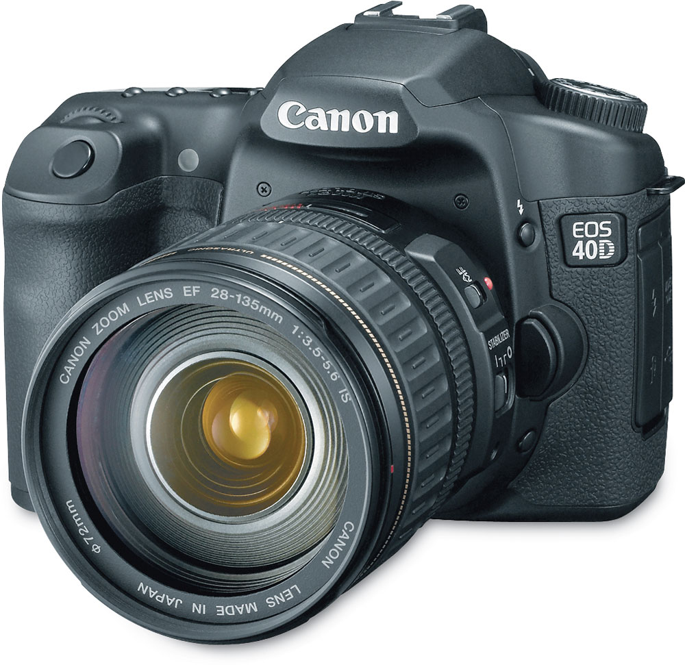 canon eos 40d 10 1 megapixel digital slr camera with 28 135mm image rh crutchfield com Canon 30D canon 40d pocket guide pdf