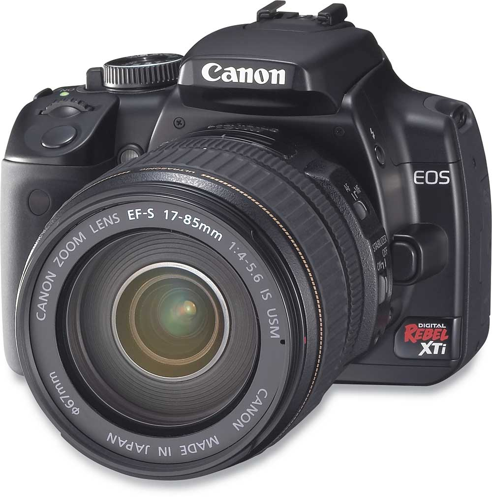 Canon Digital Rebel XTi Kit 10.1-megapixel digital SLR camera with 17-85mm  image stabilizing zoom lens at Crutchfield.com