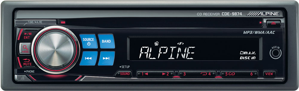 alpine cde 9874 cd receiver at crutchfield com rh crutchfield com Alpine Home Stereo Receiver Alpine Car Radio Manual