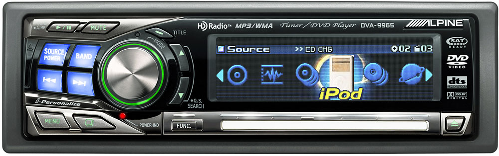 Alpine Dva Cd Player With Mp3  Wma Playback At