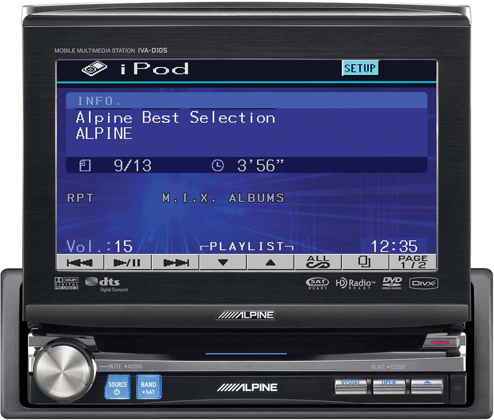 Alpine Iva D105 In Dash Dvd Cd Receiver At