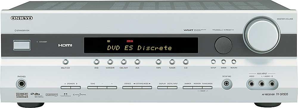 onkyo tx sr505 silver home theater receiver with hdmi switching at rh crutchfield com onkyo tx sr504 manual onkyo tx-sr505e review