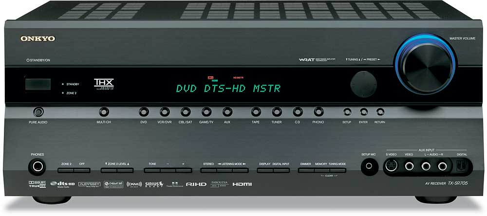 onkyo tx sr705 black thx select2 home theater receiver with hdmi rh crutchfield com  onkyo c-705 manual