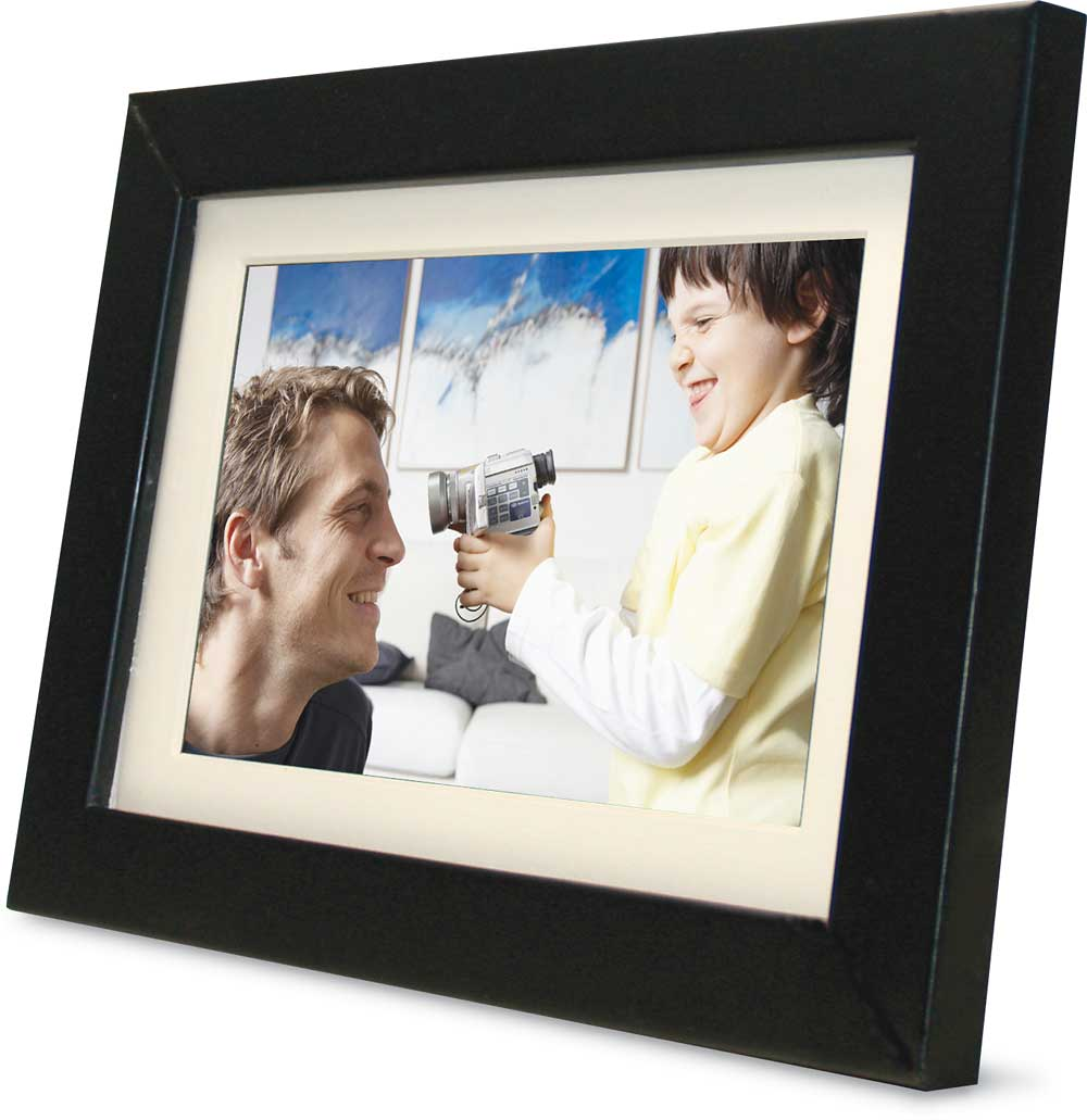 Pandigital Photo Frame With 9 Lcd Screen And 128mb Built In Memory