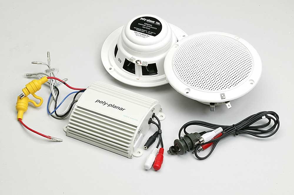 poly planar marine mp3 kit includes ma 4055 5 2 way marine poly planar marine mp3 kit includes ma 4055 5 2 way marine speakers me 50 marine amplifier and ic 3 5pm mp3 adapter at crutchfield com