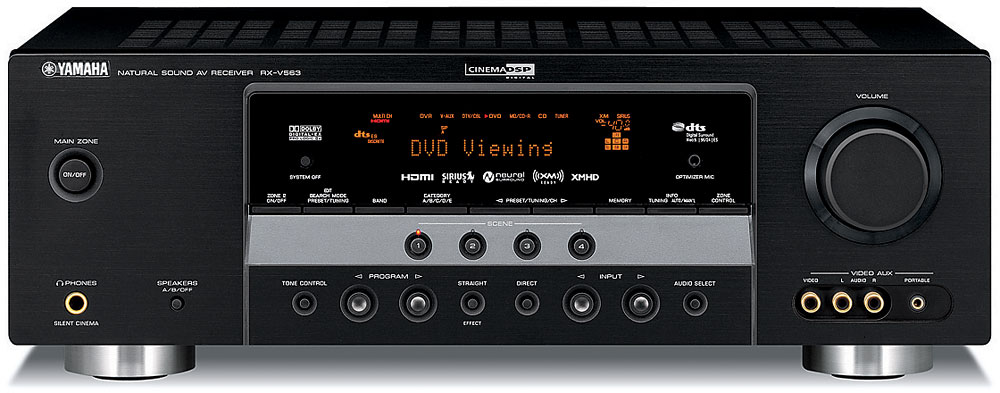 yamaha rx-v563 home theater receiver with hdmi switching at