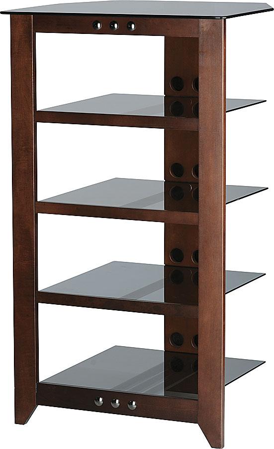sanus nfa245 mocha 5 shelf audio component rack at. Black Bedroom Furniture Sets. Home Design Ideas