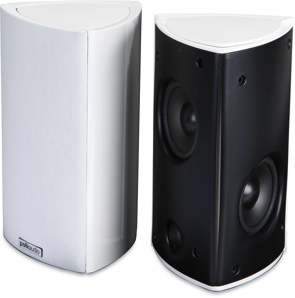 Polk Audio Rm8 White Bookshelf Wall Mount Speakers At