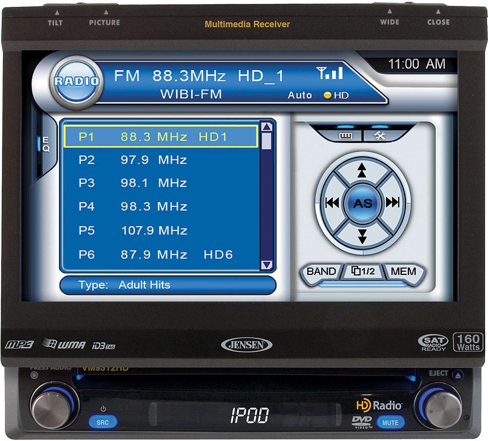Jensen VM9312HD DVD receiver at Crutchfield.com