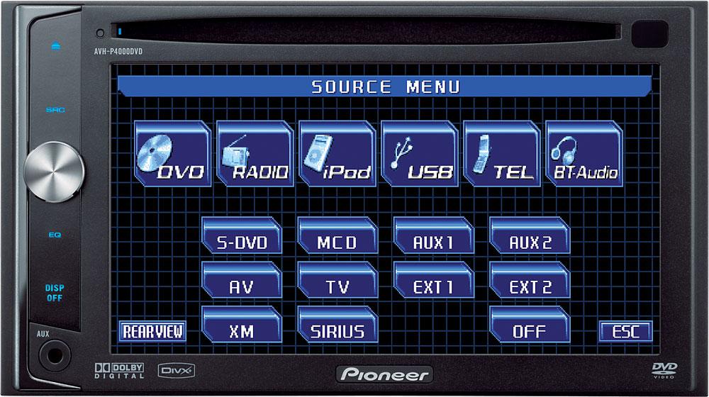Pioneer AVHP4000DVD DVD receiver at Crutchfield – Pioneer Avh P4000dvd Wiring Diagram