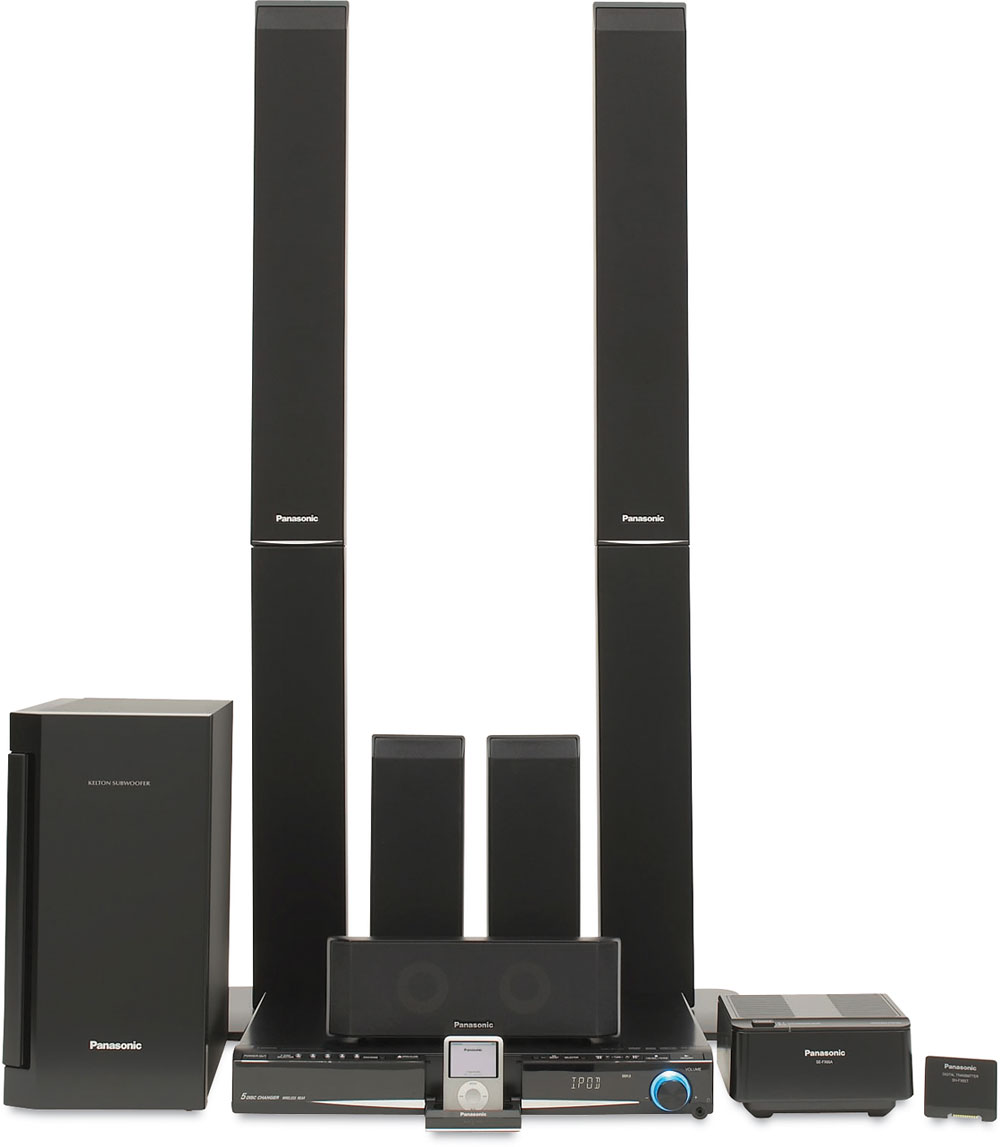 Panasonic SCPT960 5disc DVD home theater system with wireless rear