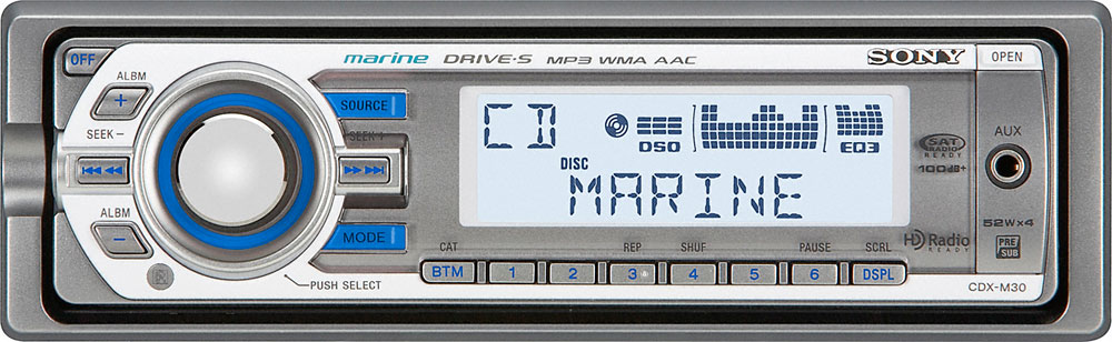 sony cdx m30 marine cd receiver with front panel auxiliary input at rh crutchfield com Sony Car Stereo Wiring Guide sony cdx-m30 wiring diagram