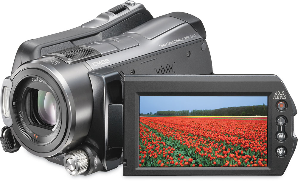 sony hdr sr12 120gb high definition hard drive camcorder at