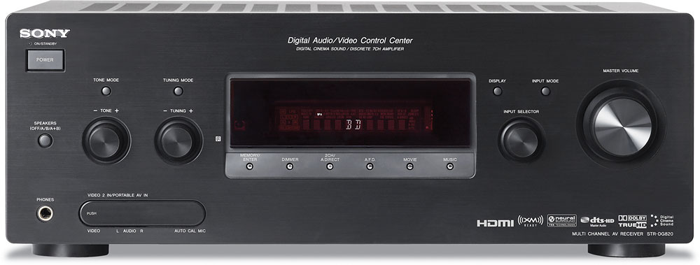 sony str dg820 home theater receiver with hdmi switching at rh crutchfield com Sony Instruction Manuals Sony Operating Manuals ICD-UX523
