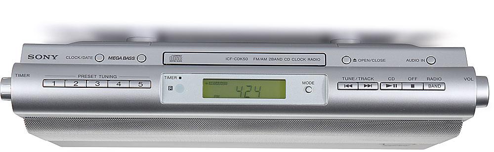 Sony icf cdk50 kitchen cd player clock radio hands on - Sony icfcdk50 under cabinet kitchen cd clock radio ...