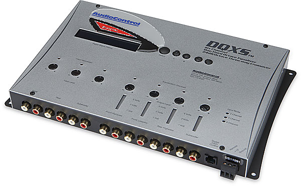 AudioControl DQXS 6-channel digital equalizer with 4-way crossover