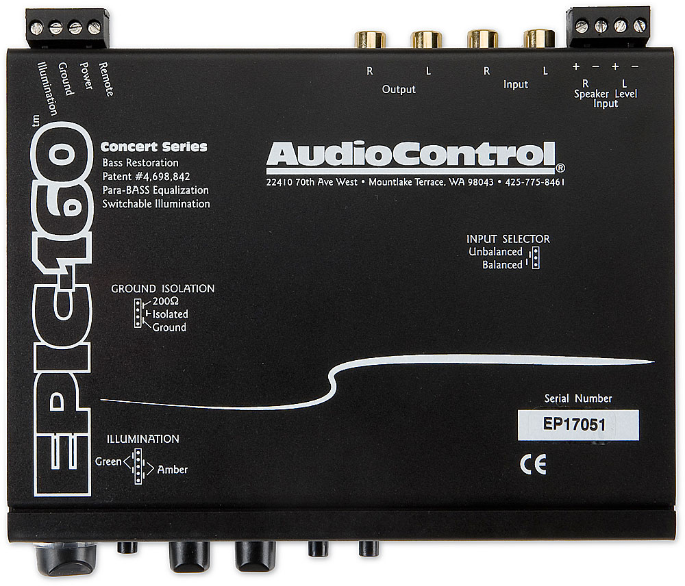x161EPiC160 f 1 audiocontrol epic 160 in dash bass processor with spl display at