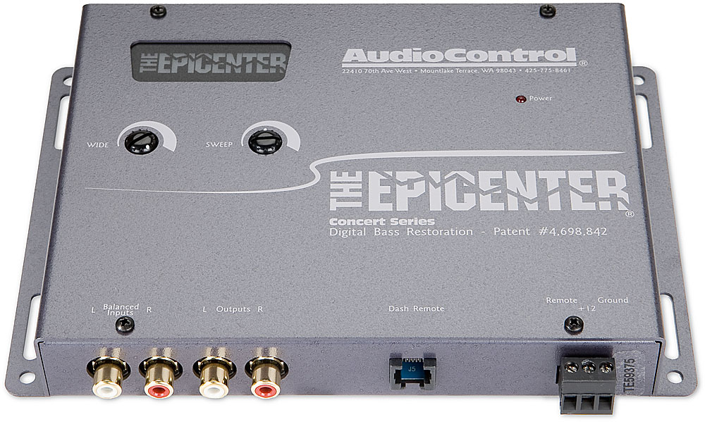 x161EPiCEG F 1 the epicenter� by audiocontrol (gray) bass processor at audiocontrol epicenter wiring diagrams at eliteediting.co