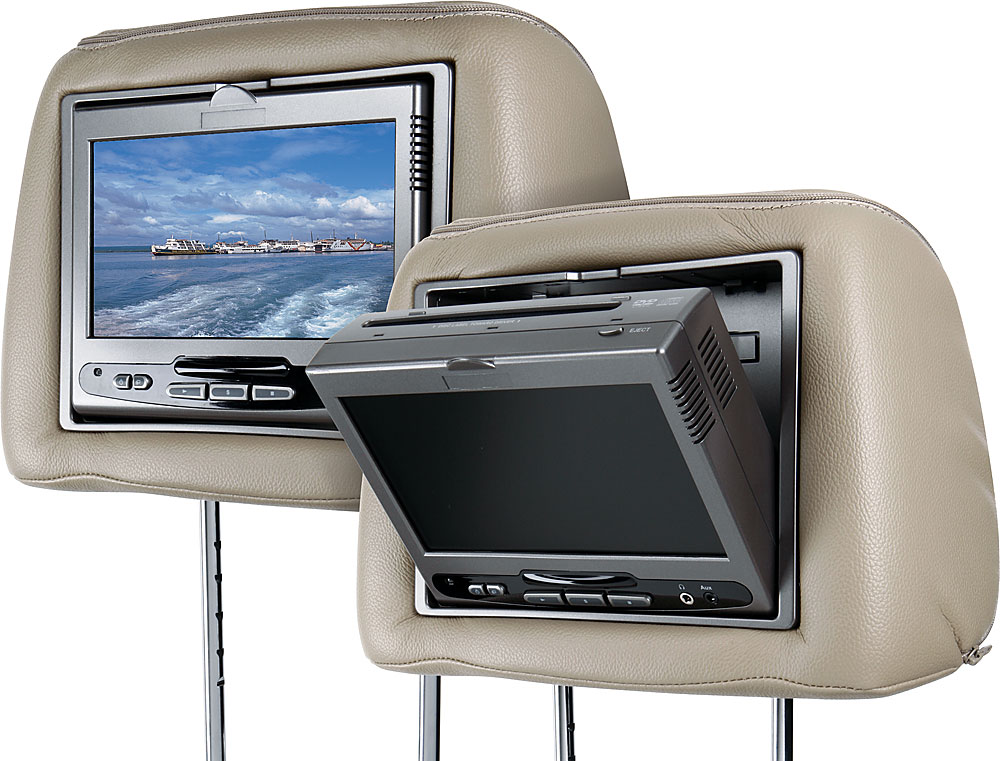 """2 7/"""" VIDEO HEADREST LCD MONITOR UNIVERSAL T-VIEW ALL 3 COLORS BLACK TAN GRAY"""