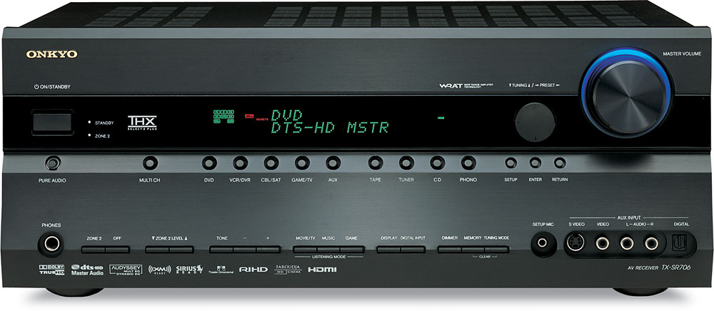 Onkyo tx-sr706 (black) thx select2™ plus home theater receiver.
