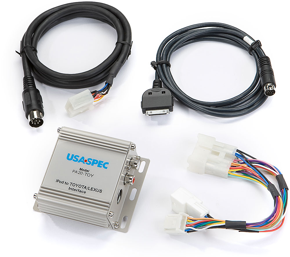 Usa Spec Ipod Interface For Toyota Connects Your To Select Wiring Connectors And Lexus Factory Radios Superior Menu 2007 Up Models With Navigation At