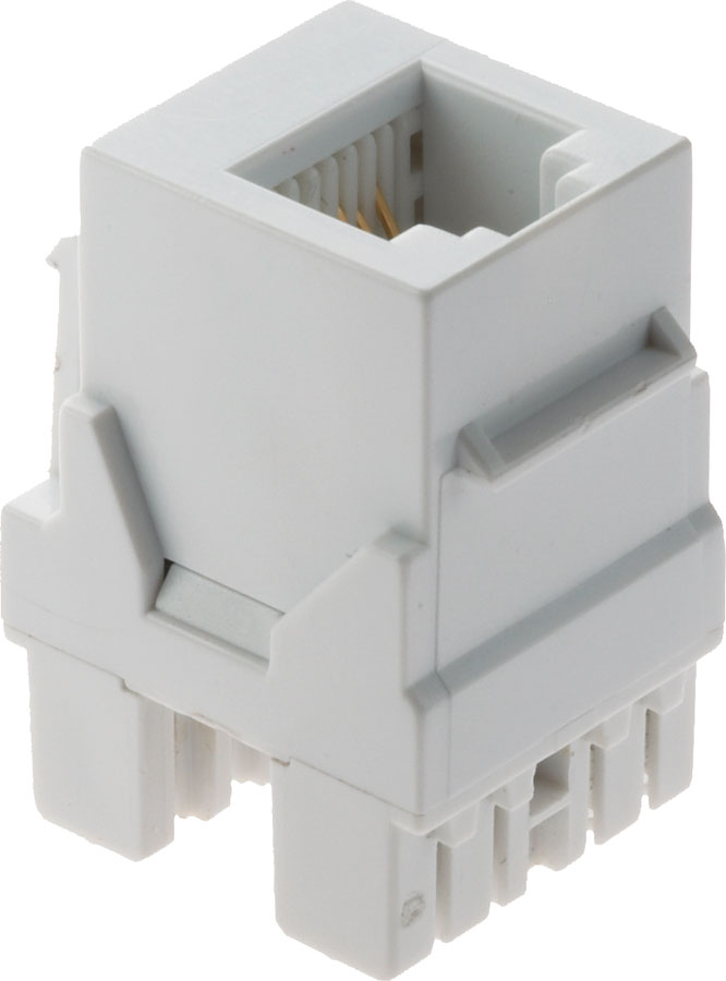 On-Q RJ-25 Telephone Connector (White) at Crutchfield.com
