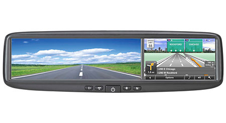 Azentek SM-450 Smart Mirror Rear-view mirror with integrated GPS navigation