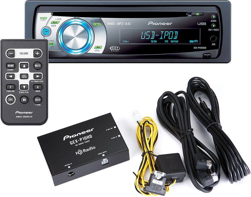pioneer deh p4000ub wiring diagram pioneer hd radio    package includes deh p4000ub cd receiver and gex  deh p4000ub cd receiver and gex