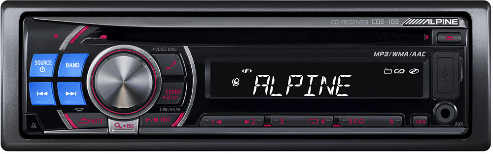 alpine cde 102 cd receiver at. Black Bedroom Furniture Sets. Home Design Ideas