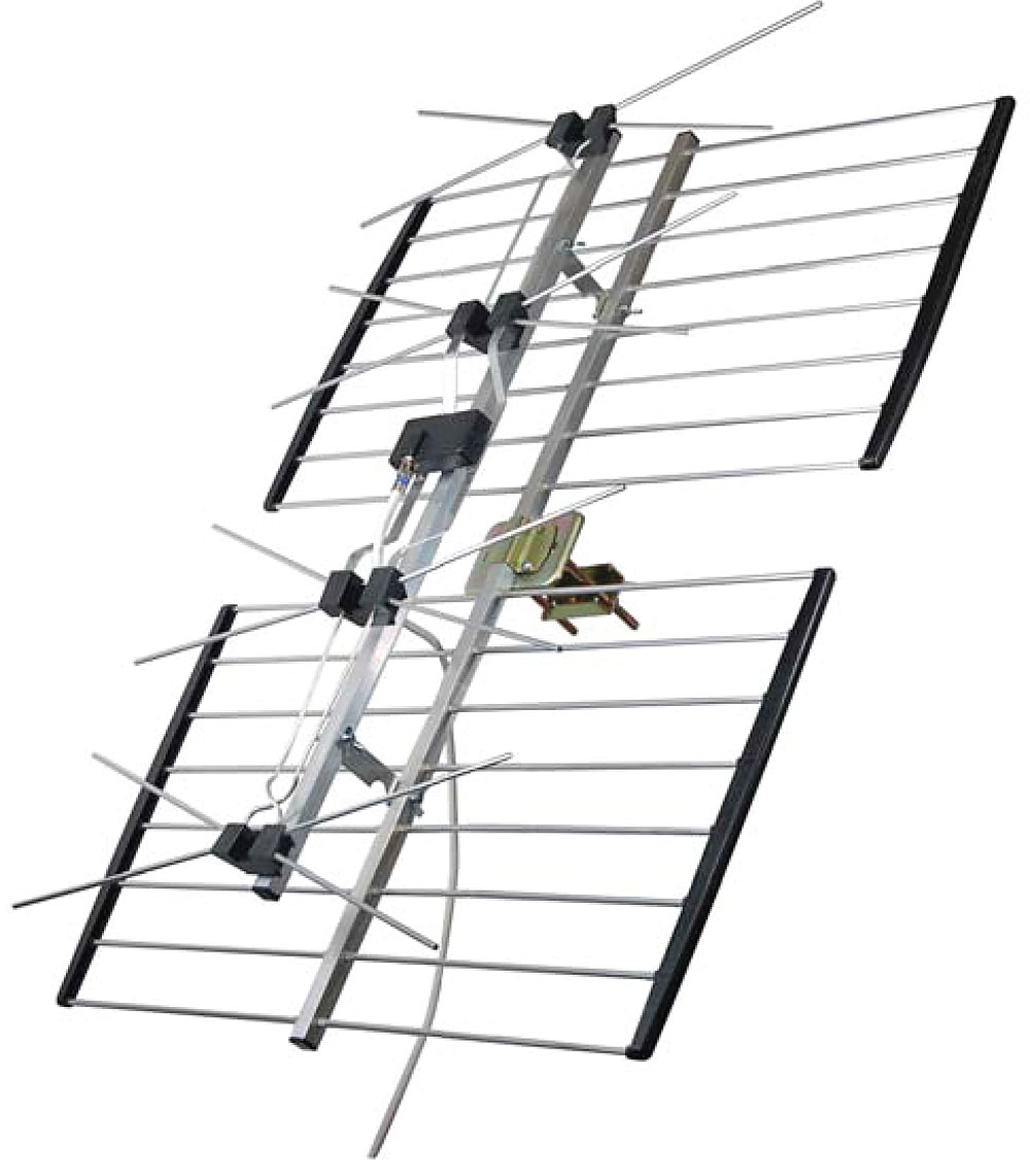 Channel Master 4221hd Directional Outdoor Rooftop Tv Antenna At Uhf Preamplifier