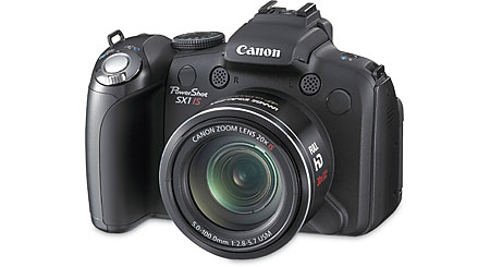 Canon PowerShot SX1 IS 10-megapixel digital camera with 20X optical zoom