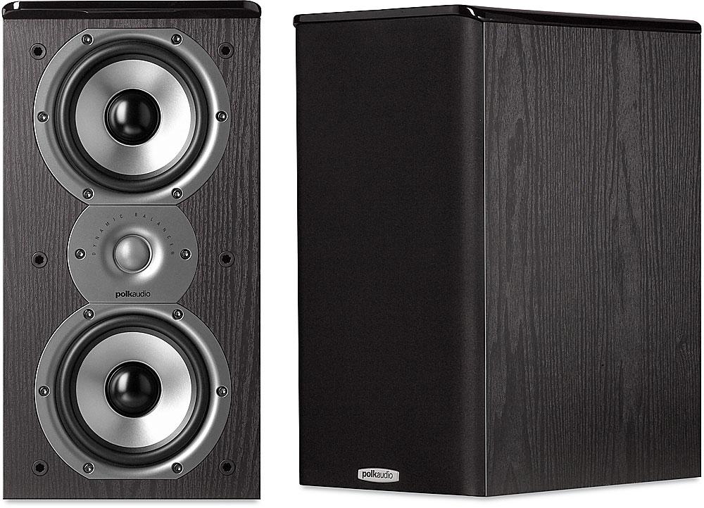 Polk Audio TSi100 Black Bookshelf Speakers At Crutchfield