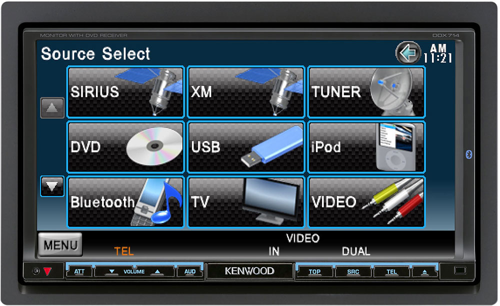 kenwood ddx714 dvd receiver at crutchfield com rh crutchfield com Kenwood DVD Navigation Touch Screen Kenwood Touch Screen CD Player