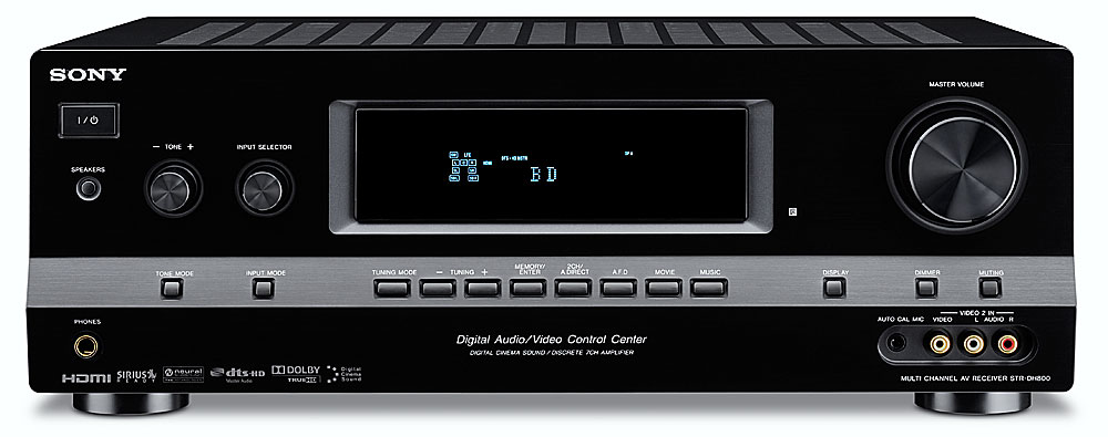 sony str dh800 home theater receiver with hdmi switching and rh crutchfield com