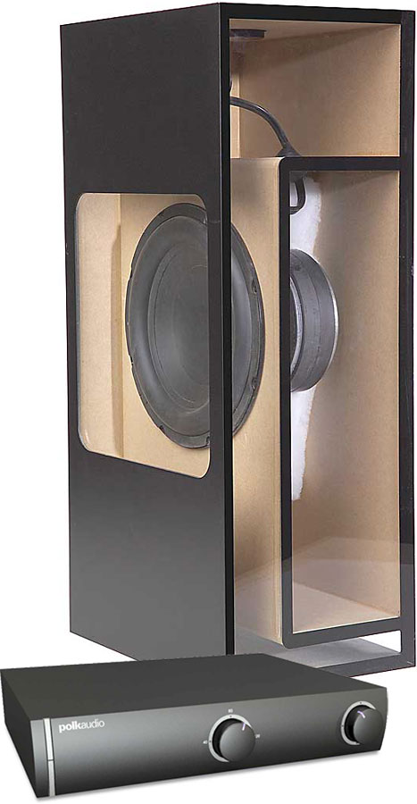 polk audio csw100 passive in floor in ceiling subwoofer with matching lifier at crutchfield