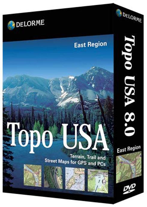 delorme topo usa 80 east region topographic map software
