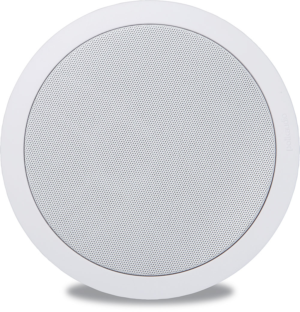 Polk Audio RC60i 2-Way In-Ceiling Speakers Pair, White