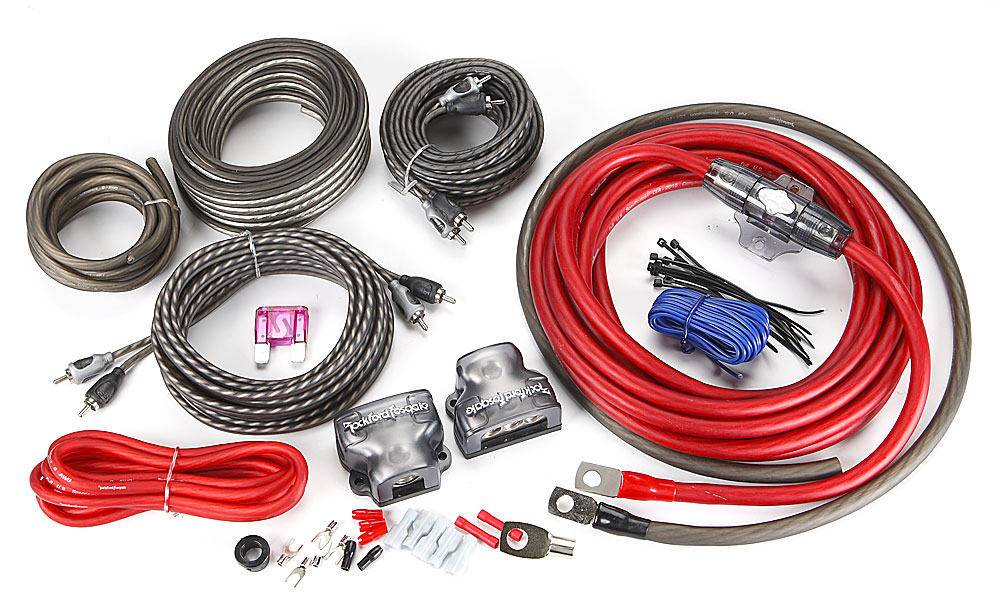 rockford fosgate rfk4d 4 gauge dual amplifier complete wiring kit at rh crutchfield com wiring kit for amp and sub wiring kit for amplifier