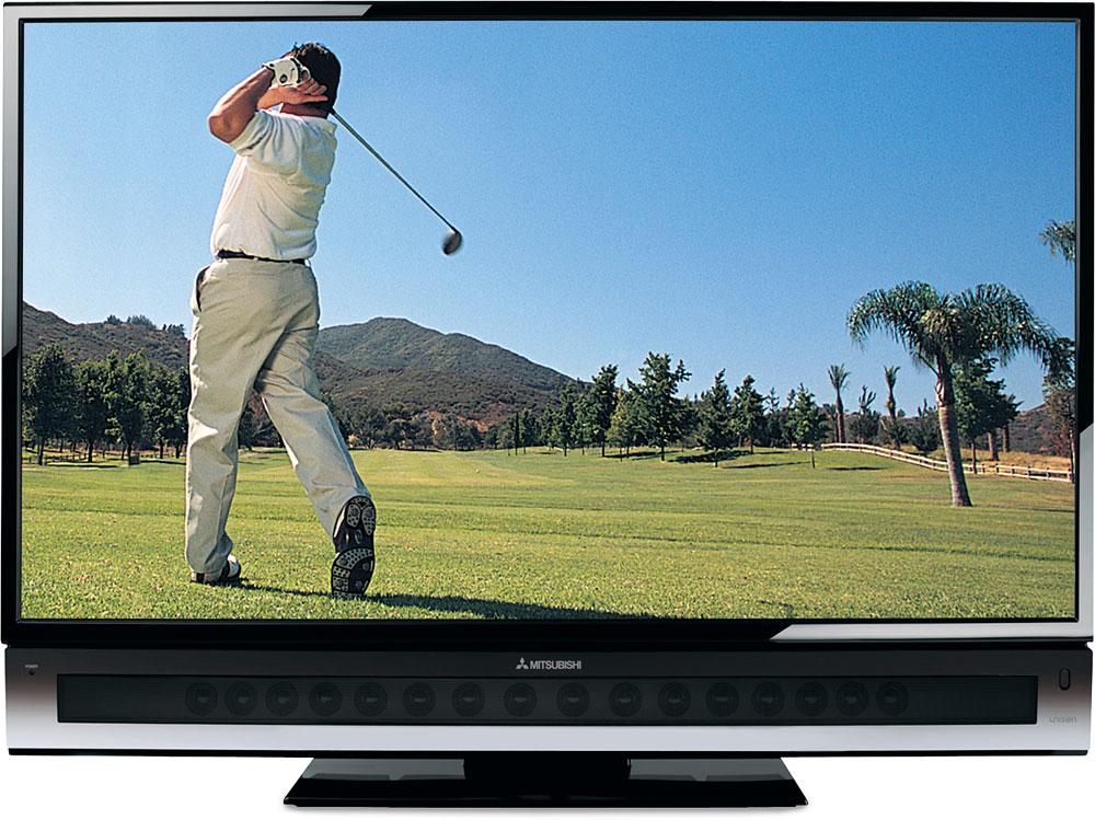 electronics tv inch mitsubishi dlp wd amazon hdtv com dp