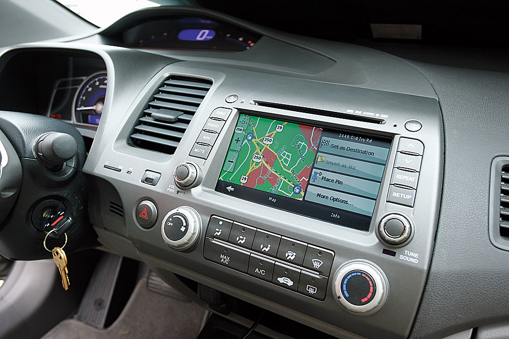 Rosen Hd0820 Navigation Receiver Custom Fit Replacement For Your 2006 Up Honda Civic Factory Radio At Crutchfield