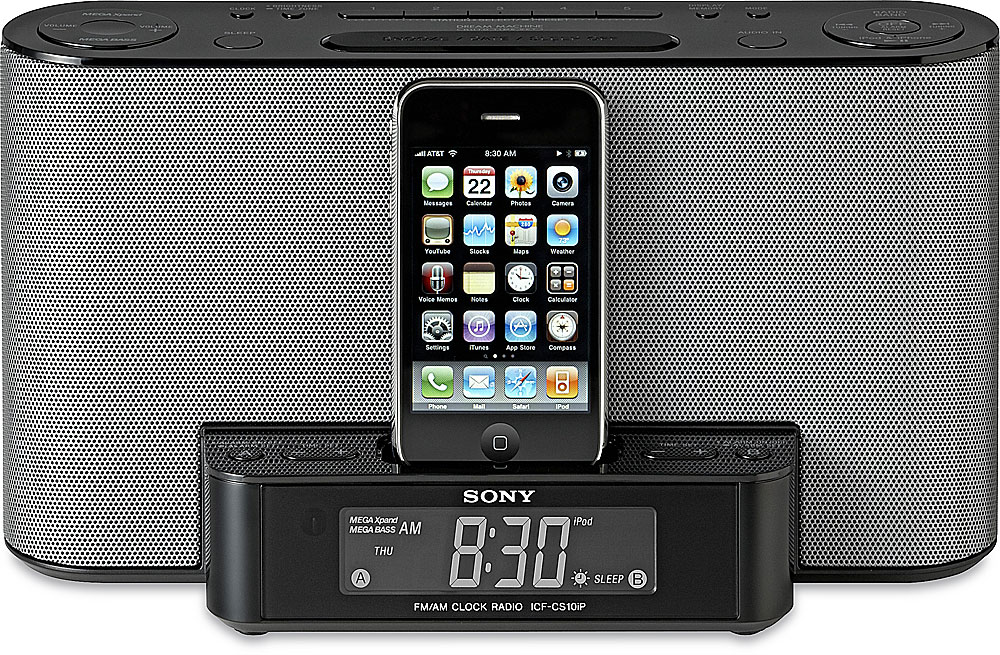 Sony Icf Cs10ip Clock Radio With Built In Ipodiphone Dock At